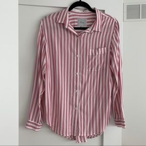 Rails Aly Pink and White Striped Shirt